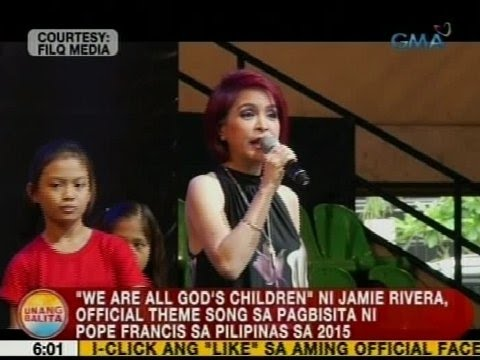 UB: 'We are All God's Children', official theme song sa pagbisita ni Pope Francis sa 2015