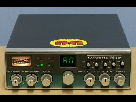 LAFAYETTE AFS-640 / 160 CH, AM/FM/SSB, CB-HAM Radio