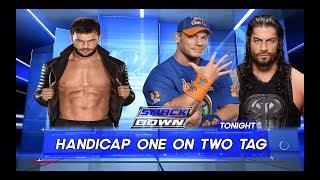 WWE 2K17 | Finn Balor vs John Cena & Roman Reigns | Handicap Match