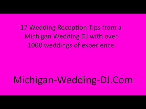 Best Wedding Reception Tips