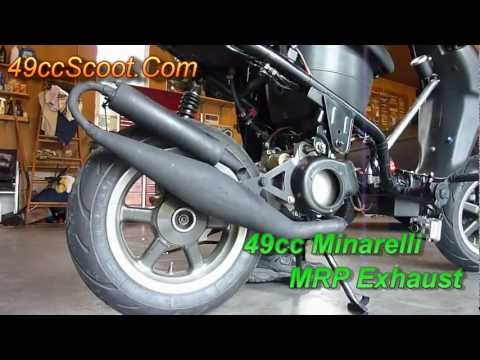 Project 49 - MRP Exhaust Sound Clips - 49cc Two-Stroke Chinese Scooter Tuned Pipe