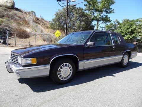 93 Cadillac Coupe De Ville Deville Last Year Coupé 4.9L V8 non Eldorado 2 DR Video Review