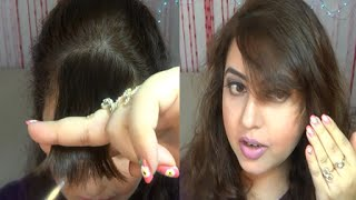 How to trim your own bangs/fringe at home | IndianBeautyReviewer