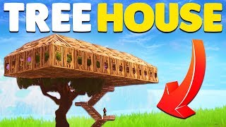BUILDING THE WORLDS BIGGEST TREE HOUSE In Fortnite Battle Royale!