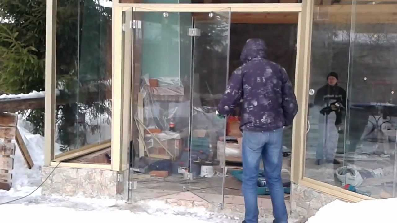Безрамное остекление своими руками видео
