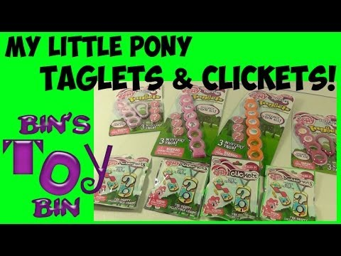 My Little Pony Clickets Blind Bags and Taglets Bracelets Dog Tags Clip-Ons! Review by Bin's Toy Bin