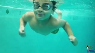 Kids Swimming under water || Kids swimming lessons || Family Swimming Fun