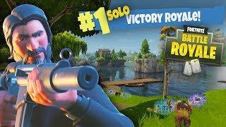 THE BEST JOHN WICK SOLO VICTORY ROYALE!!!!! Fortnite: Battle Royale Season 3