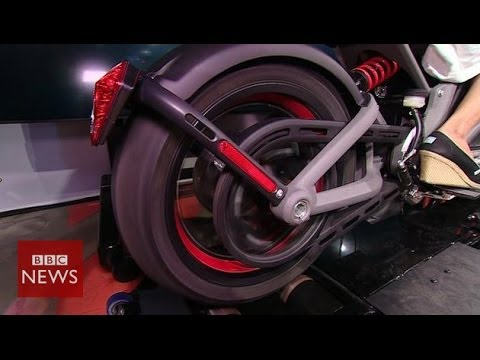 Harley-Davidson's first electric bike up close - BBC News