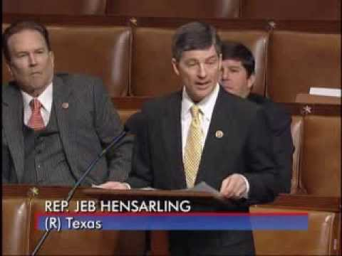 Chairman Hensarling Speaks During House Debate on Flood Insurance Bill