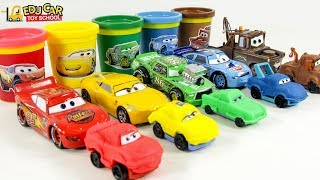 Learning Color Disney Cars Lightning McQueen play doh Play for kids car toys