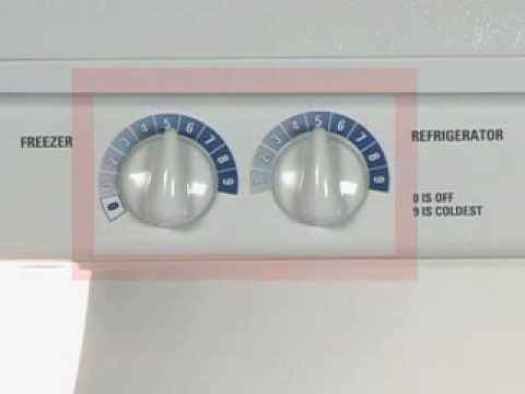 Adjusting Side Byside Refrigerator Temp Controls Knobs