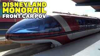 Monorail front car POV FULL CIRCUIT ride at Disneyland