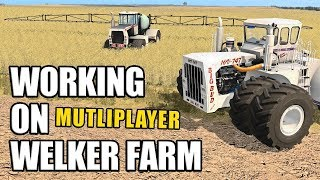 WORKING ON WELKER FARMS | Multiplayer Farming Simulator 17 - Ep1