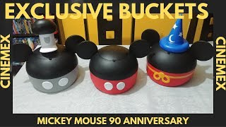 90 year Anniversary Disney Mickey Mouse Popcorn bucket from Cinemex