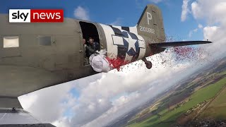 WWII plane drops 750,000 poppies over Kent