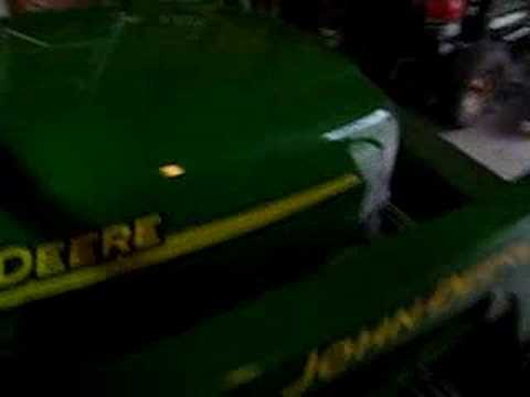 John Deere X595 Diesel Cold Start