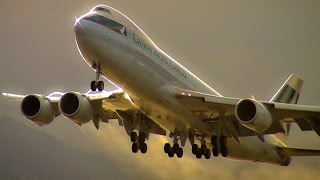 Beautiful Takeoff Cathay Boeing 747-8