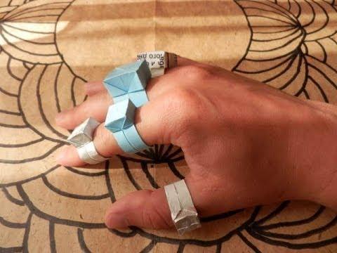 Как сделать из бумаги кольцо смотреть
