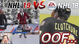 TRYING TO PLAY NHL 18 AFTER PLAYING NHL 19!