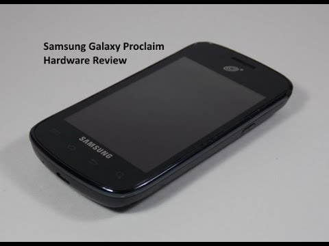 Samsung Galaxy Proclaim Hardware Review