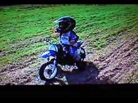 2 year old motocross rider