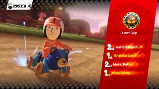 Mario Kart 8 Gameplay - Leaf Cup - Award Ceremony - 150cc