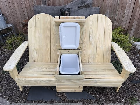 Adirondack cooler bench