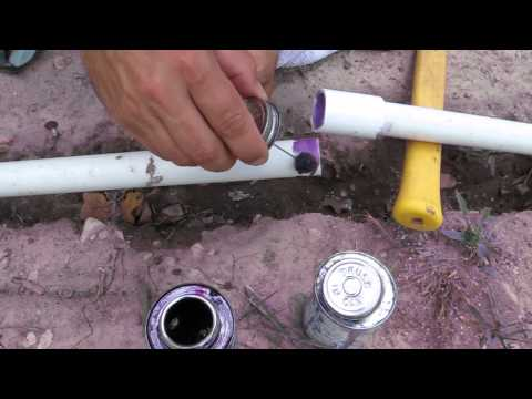 How to Use a Coupler PVC Irrigation or Repair a Broken Piece of Pipe with PVC Cement