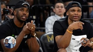 Did James Harden take a dig at Chris Paul with Russell Westbrook comments? | Jalen & Jacoby