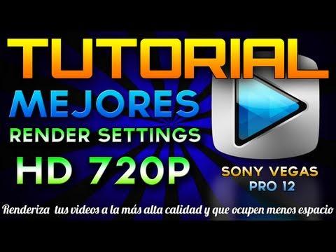 [Tutorial] Mejores render settings HD para Sony Vegas Pro 12 (alta calidad y poco peso) - ESPAÑOL