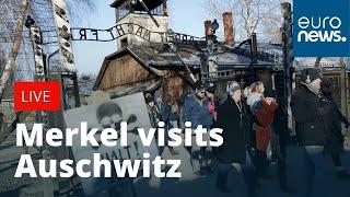 Angela Merkel visits Auschwitz  LIVE