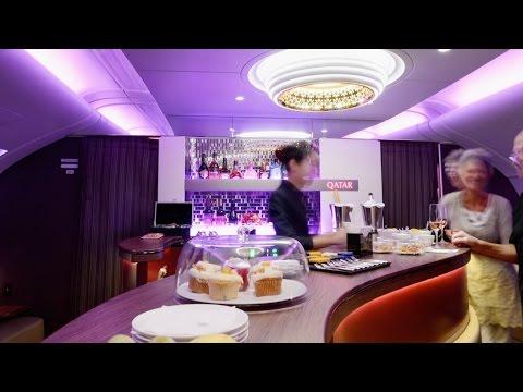 Qatar Airways A380 Business Class Bangkok to Doha VLOG