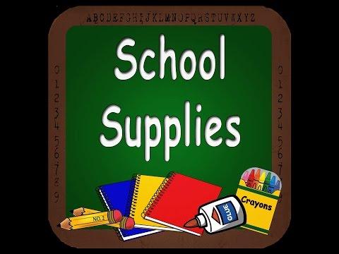 Учим новые слова на  английском: школьные принадлежности . School supplies.