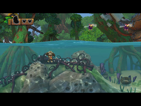 Donkey Kong Country: Tropical Freeze - Gameplay Walkthrough Part 1 - World 1: Lost Mangroves 100%