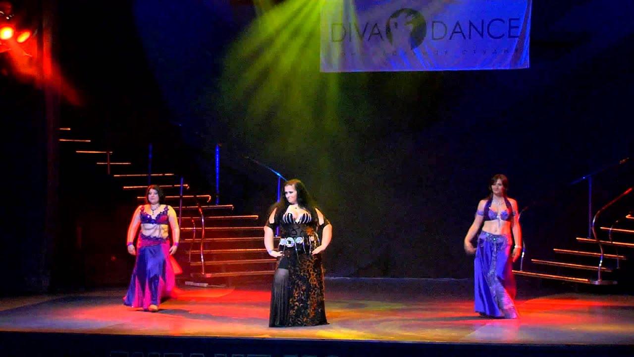 Летний отчетный концерт танцевальной школы DIVA в Гигант-холле 08.06.2014. Танец живота видео.