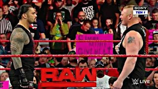 Roman Reigns Confronts Brock Lesnar Raw 4/23/2018 - WWE RAW Highlights 23rd April 2018