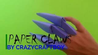 How to Make Paper Claws - (Origami)  Easy