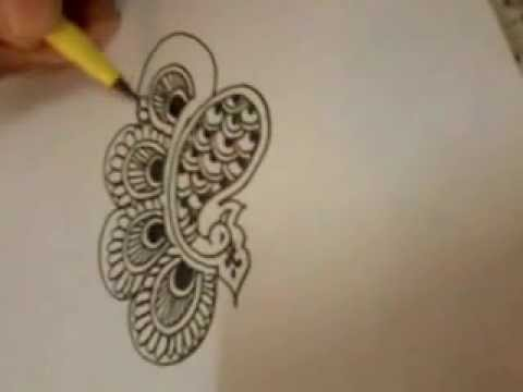 Henna Mehndi Tattoo Design TUTORIAL  Peacock 2nd Design