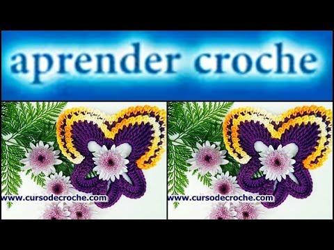 CROCHÊ - FLOR 069 AMOR PERFEITO 4