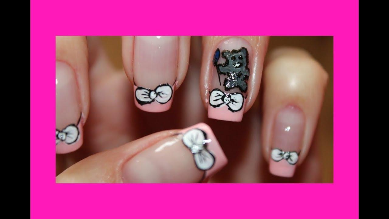 Рисунки ногтей фото с мишками