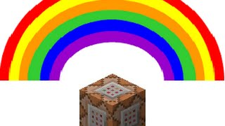 Minecraft One Command Block Creation | Rainbow Making Tools