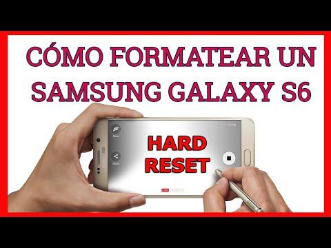Resetear / restaurar hard reset al Samsung Galaxy S6 - modo fábrica