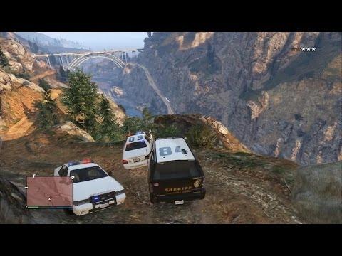 GTA V Online - Опасная и жесткая погоня в горах