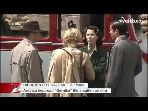 Filming of  'Gernika'  in Bilbao  ( VI , with sport- news) .