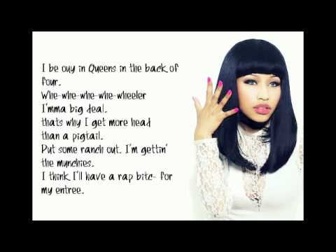 Nicki Minaj - Itty Bitty Piggy Lyrics Video