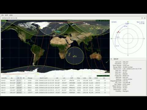 Satellite SO-67 recording Nov 29, 2009 (orbit 1105)