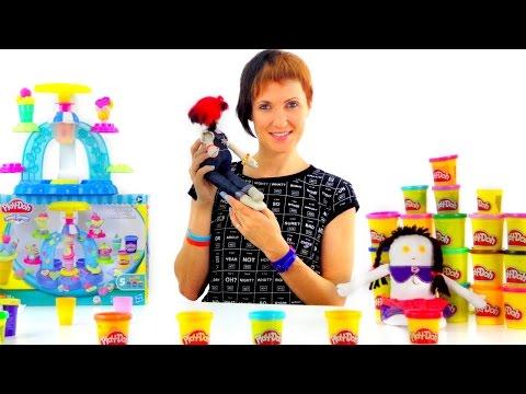 Весёлая Школа с Плей До. Play Doh мороженое. Видео с Машей