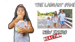 The LaBrant Family's Official New Intro Video!!! | we pick #1 | *Reaction video*