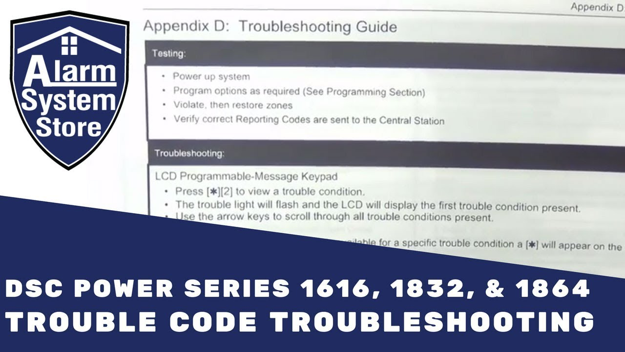Dsc Alarm Troubleshooting Guide Manual Example 2018 5010 Wiring Diagram System Store Tech Video Trouble Codes Youtube Keypad Keeps Beeping